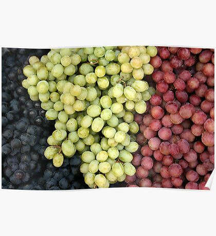 Grapes at the Market Poster