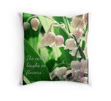 Memory of My Lily of the Valleys Throw Pillow
