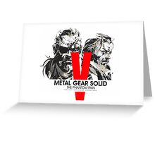Metal Gear Solid V the Phantom Pain Greeting Card