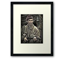 Halt ! Who goes there ?  Framed Print