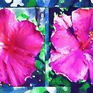 Hibiscus diptych by Madalena Lobao-Tello