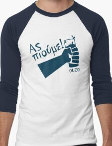 Let's Drink Ouzo! - (Greek language T-shirt) Men's Baseball ¾ T-Shirt
