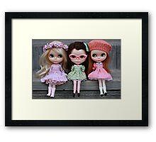 Side Part Sisters Framed Print