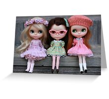 Side Part Sisters Greeting Card