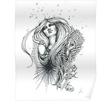 "Black and White Ink Illustration ""Reefer"" Poster"