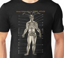 Areas Vulnerable to Zombie Attack Unisex T-Shirt