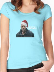 Merry DMXmas Women's Fitted Scoop T-Shirt