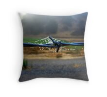 taiming the wire Throw Pillow