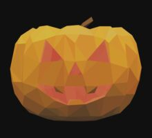 Polygonal Halloween Pumpkin Face by dimair