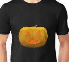 Polygonal Halloween Pumpkin Face Unisex T-Shirt