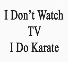 I Don't Watch TV I Do Karate by supernova23