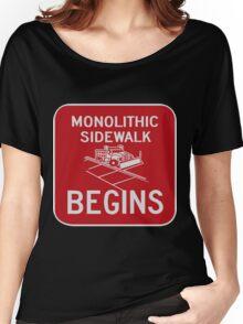 Monolithic Sidewalk Begins Women's Relaxed Fit T-Shirt