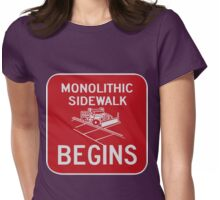 Monolithic Sidewalk Begins Womens Fitted T-Shirt