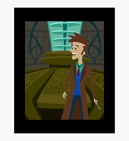 Inside The Tardis - David Tennant Photographic Print