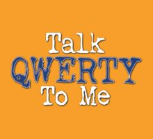 Talk Qwerty To Me - Blue by portiswood