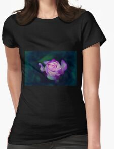 Rose Calm Womens Fitted T-Shirt