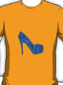 Blue abstract Heel shoe T-Shirt