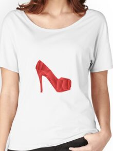 Red abstract Heel shoe Women's Relaxed Fit T-Shirt