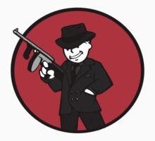 Vault Boy with a gun by Missryerye