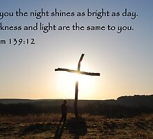 Sunrise on Easter Sunday - with Bible Verse by principiante