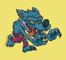 Werewolf - Electric Blue Kids Tee