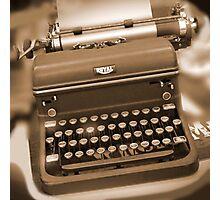 Royal Typewriter Photographic Print