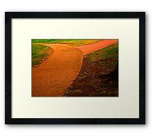 Follow The Orange Cement Road. Framed Print