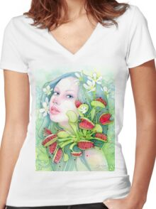 The Venus of Dreams Women's Fitted V-Neck T-Shirt