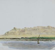 Watercolour Nile scene, 1889 by NorthantsPast