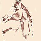 Horse Study 2 by Dawn B Davies-McIninch