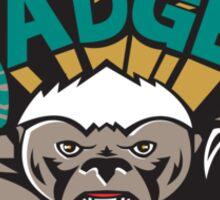 Honey Badger Mascot Front Sticker