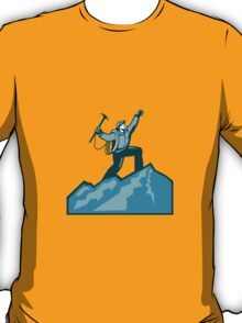Mountain Climber Summit Retro T-Shirt