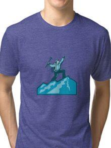 Mountain Climber Summit Retro Tri-blend T-Shirt