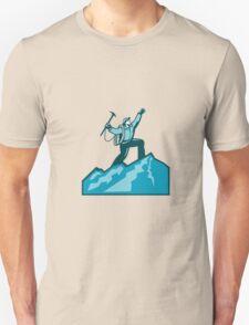 Mountain Climber Summit Retro Unisex T-Shirt