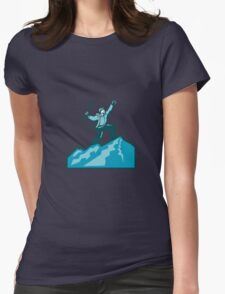 Mountain Climber Summit Retro Womens Fitted T-Shirt