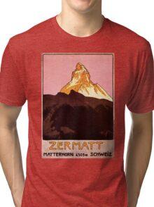 Vintage Matterhorn Mountain  Tri-blend T-Shirt