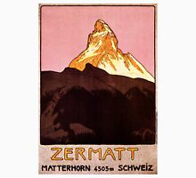 Vintage Matterhorn Mountain  Unisex T-Shirt