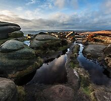 Late Afternoon on Stanage Edge by mhfore