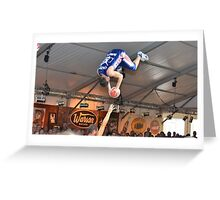 Crazy Dunkers Greeting Card