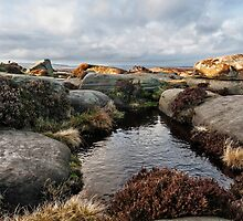 Rock Pools on top of Stanage Edge by mhfore