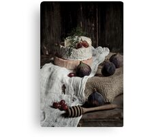 Still Life with Cheese Canvas Print