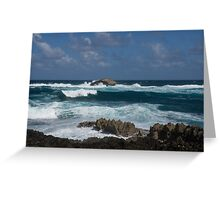 Boiling the Ocean at Laie Point, Oahu's North Shore in Hawaii Greeting Card