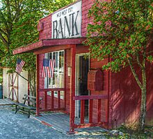 Little Red Bank, Wild West City by Jane Neill-Hancock