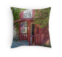 Little Red Bank, Wild West City Throw Pillow