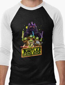 Turtles Strike Back Men's Baseball ¾ T-Shirt