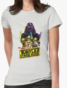 Turtles Strike Back Womens Fitted T-Shirt