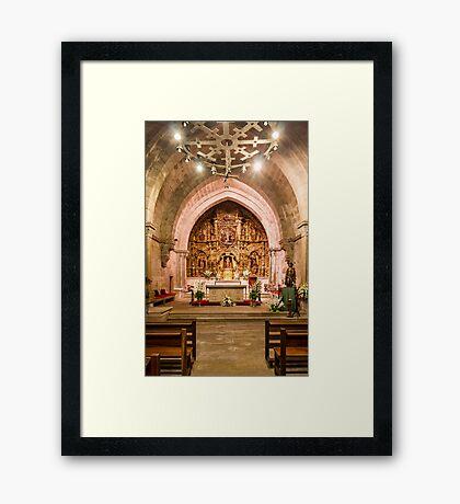 Church Interior, Baiona Framed Print