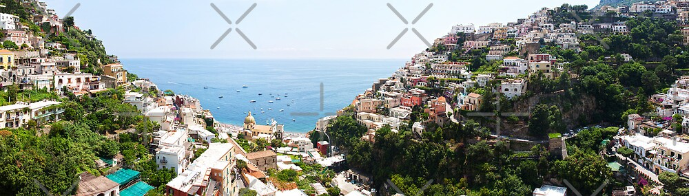 Positano Panorama by Adrian Alford Photography