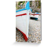 Praiano Boats Greeting Card