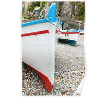Praiano Boats Poster